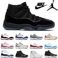 Scarpe da basket Nike Air Jordan Men 11 11s Bred Legend 23 Spazio marmellata 45 Gamma Blu Concord High 72-10 Chaussures Corridore Sport Sneakers Donne Scarpe da ginnastica
