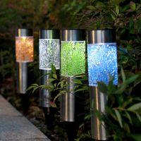 Solar Lamps Landscape Light Waterproof Outdoor Unique Courtyard Lawn Lamp For Garden Patio Decoration JS22