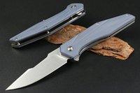 Hot! RM12 Flipper Folding Knife D2 Stone Wash Blade G10+Stainless Steel Handle Ball Bearing EDC Pocket Knives