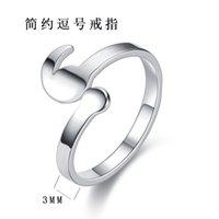 Новые ювелирные изделия из нержавеющей стали мода кольцо с запятой открытой браслет BC5V