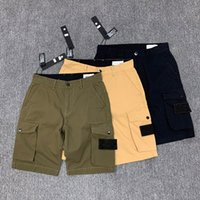 TOPStely Mode Hombre Shorts Side Label Pockets Lavé Combinaisons Casual Shorts Casual Designers Courtes Casual Street Short