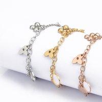 New designer design women's stainless steel bracelets fashion letter bracelet men's holiday gifts for women