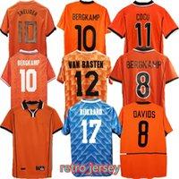 Hollanda Retro Futbol Formaları Aways 1988 1996 2002 2010 2014 # 12 van Basten # 10 Gullit # 17 Rijkaard 1998 # 8 Bergkamp Futbol Gömlek 1995 1991