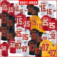 2021-2022 футбольные трикотажные изделия 10 Tyreek Hill 15 Patrick Mahomes 25 Edwards-Helaire 32 Tyrann Mathieu 87 Travis Kelce