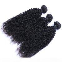 처리되지 않은 브라질 말레이시아 페루 킨키 곱슬 레미 버진 인간 30 인치 헤어 익스텐션 자연 색상 머리카락 묶음 번들
