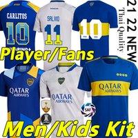 المشجعون لاعب الإصدار 21/22 Boca Juniors Soccer Jerseys Carlitos Maradona Tevez de Rossi 2021 2022 الصفحة الرئيسية الثالثة Thrad 4th تايلاند قميص كرة القدم الرجال