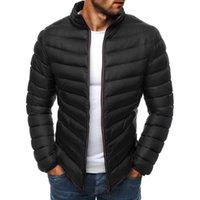 Men's Down & Parkas Winter Jackets For Men Warm Cotton Padded Casual Puffer Coats Zipper Slim Plus Size S-3XL Outwear