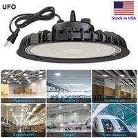 UFO LED عالية الخليج ضوء 100W 200W 300W 6000K الولايات المتحدة هوك 5 'الكابل أضواء الصناعية مستودع مصنع متجر الإضاءة