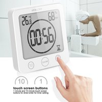 Digital Bathroom Clocks LCD Waterproof Shower Watches Timer Temp Wall Clock Home Decoration Accessories Modern Design