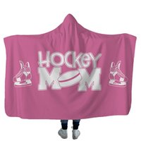 Hockey Hooded blankets Plush Sherpa Blanket Xmas 3D Printed Cape Cloak Fleece Soft Winter Swaddling Bedding Quilt Nap Wraps sea way 454 S2