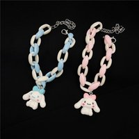 Charm Bracelets 2021 Korea Fashion Cyber Celebrity Cartoon Acrylic Bracelet Cute For Woman Temperament Jewelry Wholesale