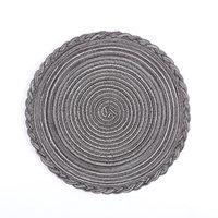 Round Insulation Pad Solid Placemats Linen Non Slip Table Mats Kitchen Accessories Decoration Home Pads Coaster ZZE5417