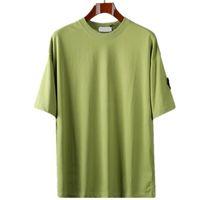 CP Topstoney 여름 기본 코튼 반팔 뉴 여름 배지 짧은 소매 패션 캐주얼 느슨한 간단한 기본 티셔츠