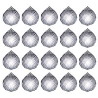 Christmas Crystalsuncatcher Clear Crystal Ball Prism Suncatcher Rainbow Pendants Maker Hanging Crystals Prisms for Windows,Car,20mm 4536 Q2