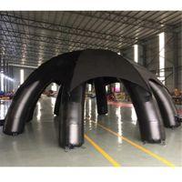 Tenda inflável preta personalizada da aranha da tenda impermeável 8m / 6m pop up dobro do disco do partido da cúpula do evento para aluguer ou venda