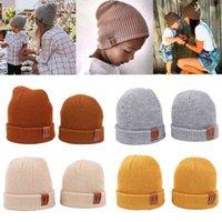 9 Colors Kids Beanie Knit Children Newborn Warm Winter Hat for Girls Boys Baby Cap wholesale