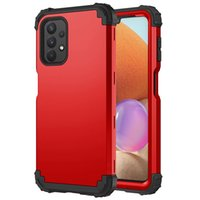 Phone Cases For Samsung S20 FE S21 Plus Ultra A71 A51 A21 A82 A72 A52 A42 A32 A12 Hybrid Silicone PC 3 in 1 Shockproof Protection Cellphone Case Back Cover