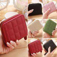 Wallets Ladies Leather Small Fashion Mini Wallet Card Key Holder Zip Coin Purse Clutch Bag