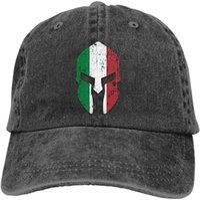 Papas de bola Italia Bandera hecha ansiosos Spartan Casco Unisex Soft Casquette Cap Vintage Ajustable Baseball