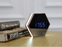 Upgrade fashion Mirror and LED Alarm Clock Touch Control LED night lights display electronic desktop Digital table clocks Vanity 199 V2
