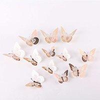 Aufkleber Aufkleber ausgehöhlt ausgehöhlt Schmetterling ausgehöhlt Imitation Metall Wanddekoration Home Wohnzimmer Dreidimensional