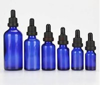 Blue Glass Liquid Reagent Pipette Bottles Eye Dropper Aromatherapy 5ml-100ml Essential Oils Perfumes wholesale free DHL