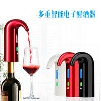 النبيذ الكهربائية واحدة اللمس المحمولة pourer مهوية موزع مضخة usb قابلة للشحن cider pourer النبيذ الملحقات ل بار المنزل استخدام 293 s2
