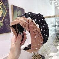 Fashion Pearl Rhinestone Hairbands Shining Ornament Knot Headbands Handmade turban For Girls Womens Hairhoop Hair Accessories