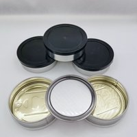 3.5g Packing Box 100ml Empty Bottle self-seal press tin can no need machine Presstin Loop Top with ring pull cover for dry herb