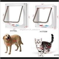 Portadores, Cajones Casas Inicio Jardín Drop Entrega 2021 Bloqueo de 4 vías PET w / Smart Interruptores Mantenga la puerta de la casa Cat Puppy Dog Supplies Lock L