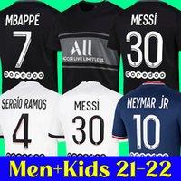 21 22 maillot de foot MESSI PSG Maillot de foot 2021 2022 PARIS Saint Germain NEYMAR JR MBAPPE SERGIO RAMOS HAKIMI ICARDI kits hommes et enfants