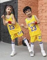 # 23 Kids Basketball Jersey Set Meninas Basquetebol Jersey Uniforme Meninos Kindergarten Infantil Sport Shirts Bonito Esportes Terno Kit de bebê 20