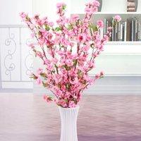 65cm 5 stücke Künstliche Kirschblüte Frühling Plum Pfirsich Blume Zweig Seide Blumenstrauß Home Party Hochzeit Dekoration Dekorative Blumen Kränze