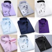남자 드레스 셔츠 망 긴 소매 남자 비즈니스 공식 셔츠 능직 스트라이프 남성 사회 캐주얼 슬림 맞는 의류 클리어런스 세일