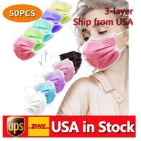 Быстрая доставка одноразовые разноцветные маски для лица Мягкая коробка для кожи для женщин и мужчин 3 слой регулируемый взрослый ребенок CT13