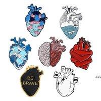 Anatômico Coração Pins Medical Anatomy Broche Neurologia Coração Pins para Médico e Enfermeira Lapel Imitate Enamel Pin Bags Dwe5564