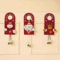 Merry Christmas Door Hanger Pendants Knob Xmas Non-woven Fabric Doors Handle Hangers Sign For Holiday Party Home Decor GWA9271