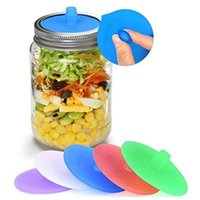 Kitchen Storage & Organization 5pcs set Jar Lid Silicone Bottle Opening Pad Food Container Cover With Steel Loop Supplies