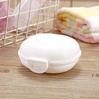Platos de jabón de viaje de plástico con tapa de baño de macarrones Caja de macarrones portátiles 5 colores disponibles BWE6221