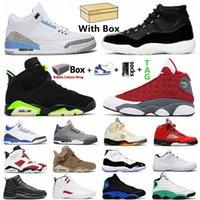 Jumpman Basketbol Ayakkabıları UNC 3 S 5 S 5S DMP 6 S 25. Yıldönümü 11s Koyu Concord 12 S Red Flint 13s Spor Açık Erkek Kadın Ayakkabı