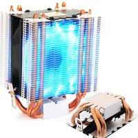 4 stücke Heatpipe Kühler blau LED Hydrauliklager CPU Cooler Lüfter Kühlkörper für Intel LGA1150 1151 1155 775 1156 AMD Kühlung Fans Kühlung
