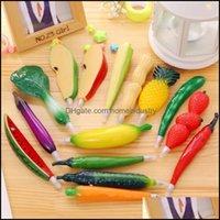 Writing Supplies Business & Industrial12 Kinds Ballpoint Pen Creative Cute Vegetables Fruit Ball Pens School Office Supply Kids Gift Station