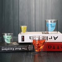 Drinkware 2.5oz Cups Wine Cup Skull Shot Glasses Beer Whiskey Halloween Decoration Creative Party Transparent Drinking ZWL458