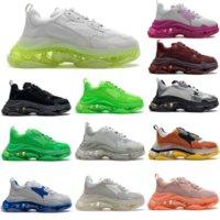 2021 Mens Triple S Calçados Sapatos Clear Sole Sneaker 3-Camadas Outsole Womens Paris 17fw Preto Branco Carta Colorido Retro Ladies Designer Sneakers Treinadores M5v1 #