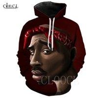Новый хип-хоп аниме 2PAC TUPAC Hoodie мужчины женщин осень топы 3D печать гангста рэп пуловеры моды смешные спортивные одежды