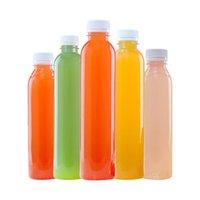 زجاجة عصير الحيوانات الأليفة 250 ملليلتر زجاجات التعبئة سماكة سماكة غطاء المسمار حاويات جولة فارغة للمشروبات حليب المياه