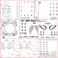 Baby Milestone Blanket Letter Flower Print Creative Soft Newborn Wrap Swaddling Fashion Baby Milestone Blankets Photography GWD7248