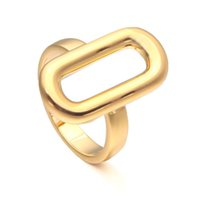 VAROLE Trendy Minimalist Ring Gold Color Hollow Geometry Finger Rings For Women Fashion Jewelry Party Gifts Anillos