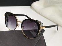 Lunettes de soleil de la conception de la nouvelle mode Gabby / F / S Charmant chat lunettes Cadre Masque oculaire Inlaid Crystal Pop et Style généreux Verres de protection UV400