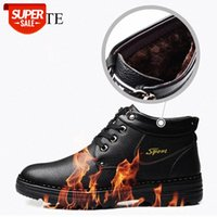 Waterproof Winter Cotton Shoes for Man Plus Velvet Thick Warm Shoes Puncture-Proof Indestructible Steel Toe Safety Boots Casual #iu2y